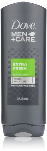 Dove Men + Care Corps et Visage Wash, Extra frais, 18 onces (Pack de 3)