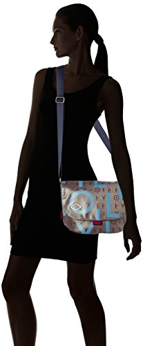 Oilily Lori Shoulderbag Mujer Bolsos Mhf Grey bandolera Gris rrqwdA8x5