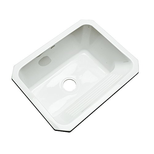 Attirant Dekor Sinks 31000UM Richfield Cast Acrylic Single Bowl Undermount Utility  Sink, 25 Inch, White