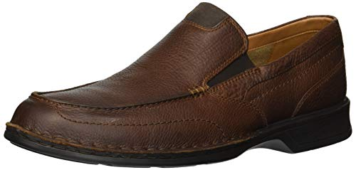 Clarks Men's Northam Step Shoe, tobacco leather, 070 M US (Mens Slides Clarks)