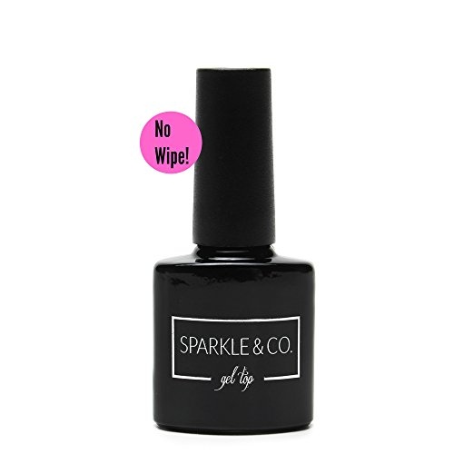 Nail Color Pure Lacquer Crystal (8ML No Wipe Gel Top Coat, Tack Free, No Cleanse, Soak Off Led/UV Gel Polish - Ships Fast from USA)