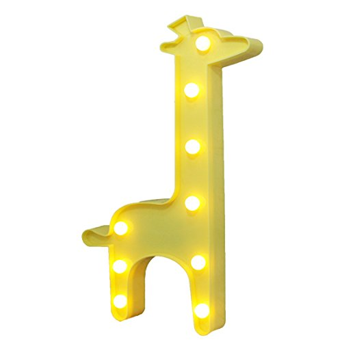 LED Funny Night Light Decoration Lamp 3D Giraffe Shape Wall Lamp for Home,Party,Gift,Romantic Night Table Lamp Holiday Home Christmas Party Decoration(Yellow)