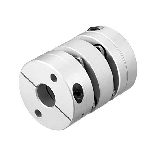 12mmx12mm Clamp Motor Tight Axis 2 Diaphragm Coupling Coupler L49xD39