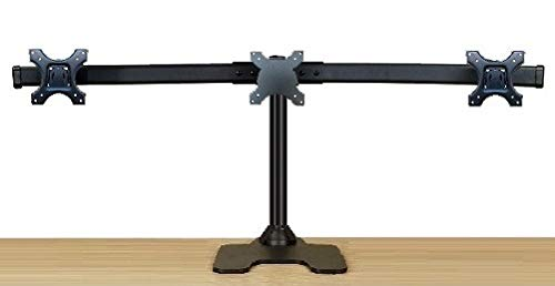 (EZM Deluxe Triple Monitor Mount Stand Free Standing with Grommet Mount Option Supports up to 3 28