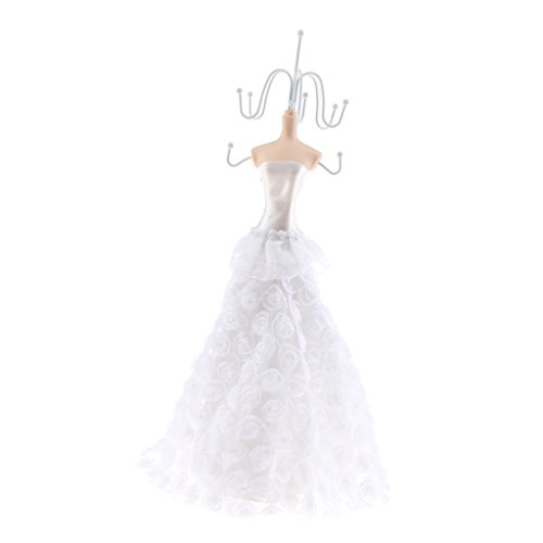 Baosity Wedding Mannequin Dress Earring Ring Necklace Jewellery Display Stand Holder