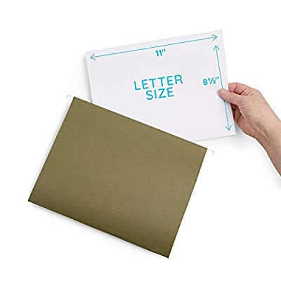 Hanging File Folders, Standard Green, Letter Size, 25 Pack