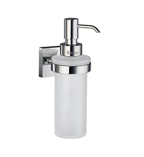 SMEDBO House Frosted Glass Soap Dispenser w Polished Chrome Hardware