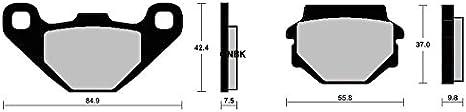 CNBK Semi Met Brake Pads Set for KAWASAKI Street Bike KLR650 KLR 650 cc 650cc KL650C E1.92 61.00010.00 99 00 01 02 03 04 05 1999 2000 2001 2002 2003 2004 2005 4 Pads