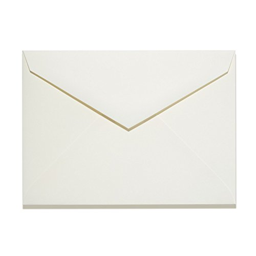 Natural Ivory, 6 Size Baronial Pointed Flap Envelopes, 6 1/2
