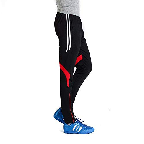 Man Lighting - GEEK LIGHTING Men's Soccer Training Pants, Zipper Pocket Track Pants for Workout, Gym, Running