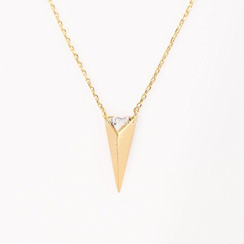 white-howlite-gold-pyramid-necklace