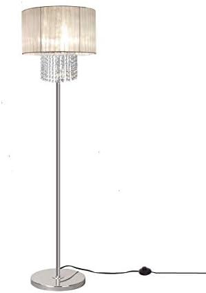 Surpars House Elegant Crystal Floor Lamp 65″ Tall