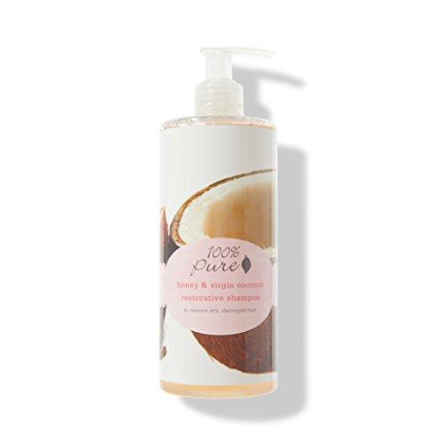 100% PURE Honey & Virgin Coconut Restorative Shampoo (13 Fl Oz), Sulfate Free Shampoo, Restores Damaged Hair, Replenishes Moisture, Healthy Hair - Pure Virgin Extra