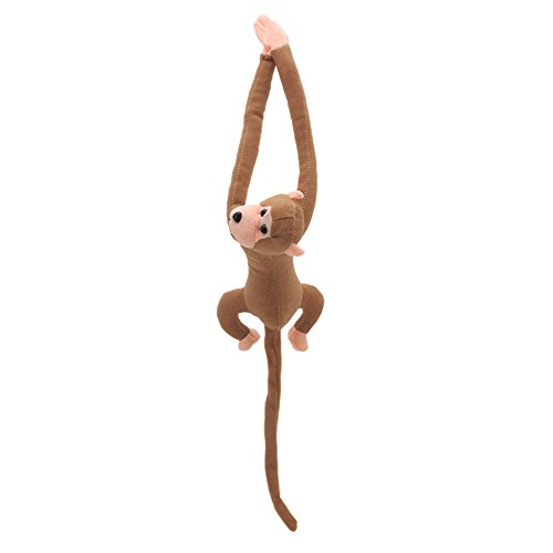 Misright Long Arm Tail Monkey Doll Windom Curtain Car Decoration Valentine's Day Gift ()