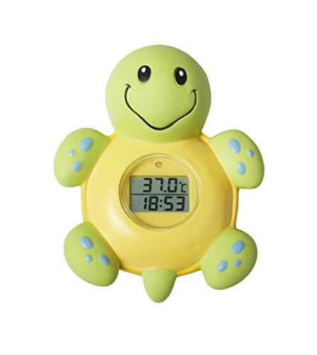 Nuby Bath Time Clock and Thermometer, Styles May Vary