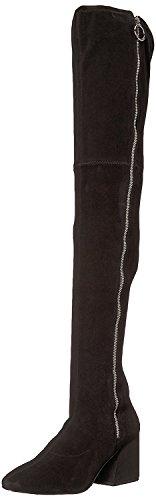 Dolce Vita Women's VIX Fashion Boot, Black Stella Suede, 9 Medium US by Dolce Vita