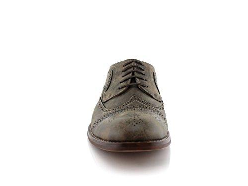 Mens Ferro Aldo 139357e Scarpe Stringate Perforate Scarpe Oxford In Eco-friendly Marrone