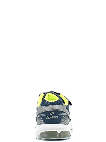 Lotto - Lotto Zenith IV Scarpe Sportive Bambino Blu Pelle Strappi R8583 AVIATOR/TITANG