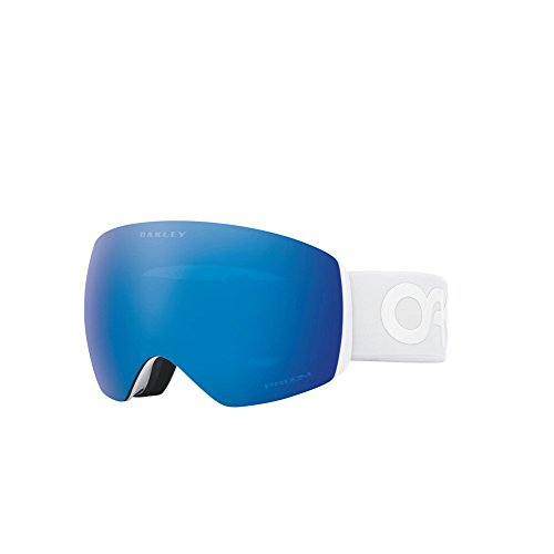 Oakley OO7050-37 Men's Flight Deck Snow Goggles, Matte White, Prizm Sapphire Iridium, - Sapphire Oakley Iridium