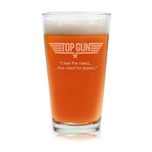 Movies On Glass - Premium Etched Top Gun Movie Engraved Logo With Quote,