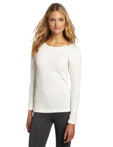 Duofold Women's Mid Weight Double Layer Thermal Shirt, Winter White, Small (Womens Layer First Top)