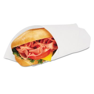 Grease-Resistant Wrap/liner, 14 X 14, White, 1000/pack, 4 Packs/carton