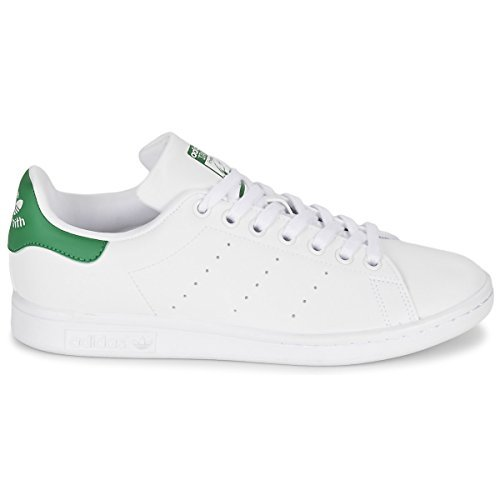 adidas Originals Women's Stan Smith Footwear White/Footwear White/Green Athletic Shoe