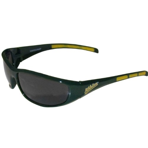 Oakland Athletics Gear (MLB Oakland Athletics 3-Dot Wrap Sunglasses)