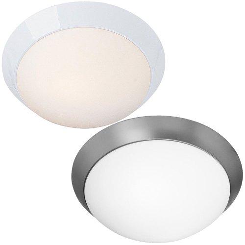 Access Lighting 20625-WH/OPL Cobalt 2-Light Flush Mount, White with Opal Glass - Cobalt 2 Light