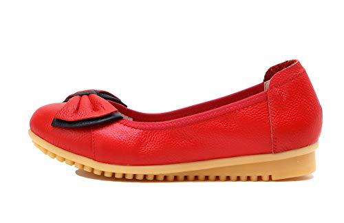 flats Tacco Colore Donna Allhqfashion Assortito Tirare Ballet Rosso Basso Fbuidc011018 USE1x