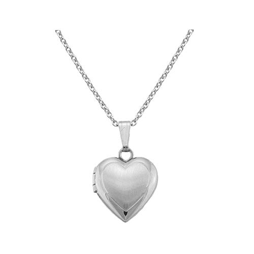 Children's Jewelry - 15 Inches Sterling Silver Heart Locket Necklace