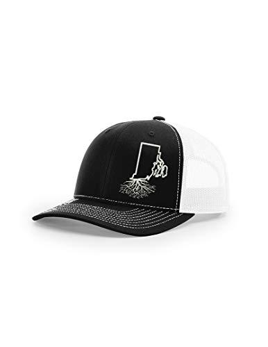 Wear Your Roots Snapback Trucker Hat (One Size - Adjustable, Rhode Island Black/White Mesh) ()