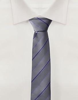 Corbata de Fabio Farini en gris morado: Amazon.es: Ropa y accesorios