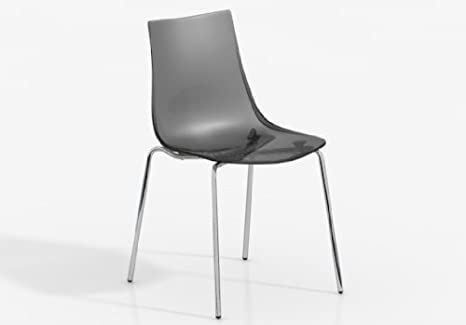 Sedia yanki sedile policarbonato gambe finitura opaca disponibile