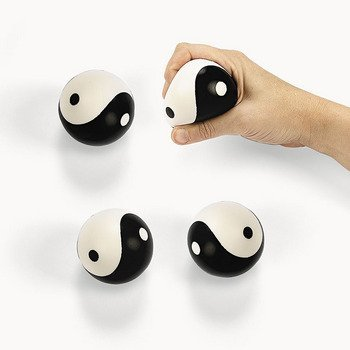 Yin-Yang Relaxable Squeeze Stress Balls (12 Pack) - Chinese New Year & Party Favors