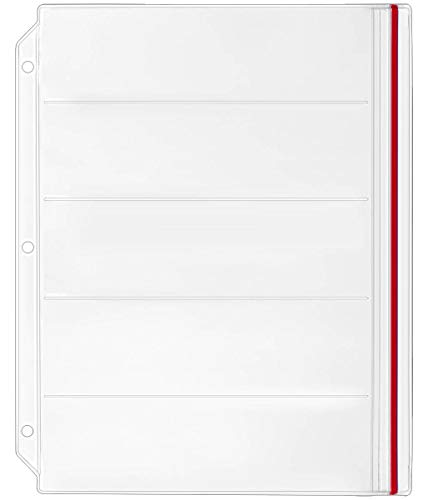 StoreSMART Binder Page for Double Point Needles - Holds 5 Needles per Page - 10-Pack - DP500-5-10 by STORE SMART (Image #1)