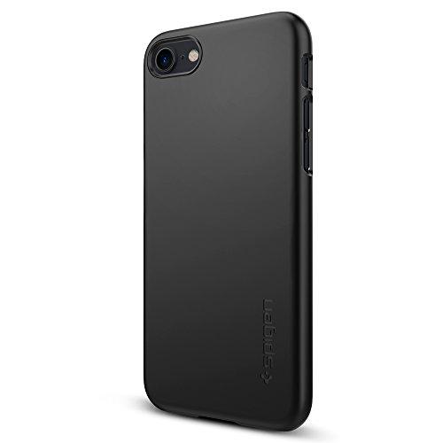 iPhone 7 Hülle, Spigen® [Thin Fit] Passgenaues [Schwarz] Premium Hart-PC Schale / Schlanke Handyhülle / Schutzhülle für iPhone 7 Case, iPhone 7 Cover - Black (042CS20427)