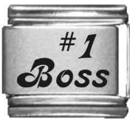 Number 1 Italian Charm (Number 1 Boss Laser Italian Charm)