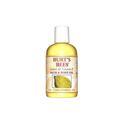 バーツビーレモン&ビタミンバス&ボディオイル(4オンス/ 118ミリリットル) x4 - Burt's Bees Lemon & Vitamin E Bath & Body Oil (4 fl oz / 118ml) (Pack of 4) [並行輸入品] B072P2C3R6