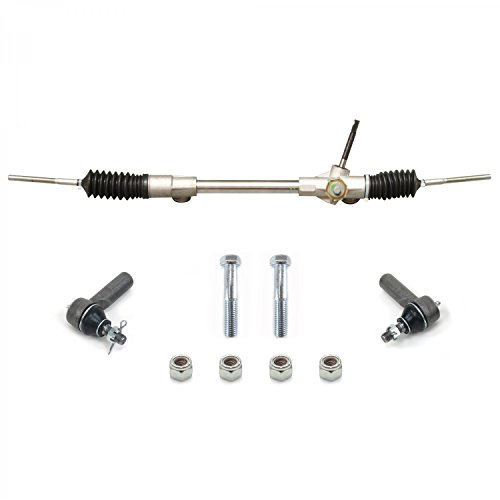 Helix 315300 Mustang II Manual Steering Rack and Pinion with Tie Rod Ends and Hardware