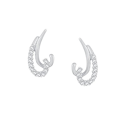 Giantti 14 carats Diamant pour femme Boucles d'oreille à tige (0.128 CT, VS/Si-clarity, Gh-colour)
