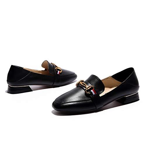 Mujer Adeesu Tacón Zapatos De Colgantes Negro Para Huarache Uretano Sdc06330 Con r4qF6rY