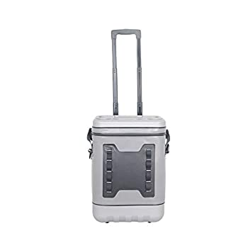 Image of ArtST 45 Cans Soft Cooler Bag, 25L Leak-Proof Waterproof Portable Wheeled Insulated Coolers for Taking Lunch, Camping, Picnics, Sea Fishing, Trip to Beach (Light Gray) Coolers