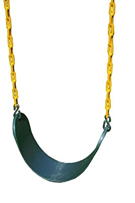 Eastern Jungle Gym Sling Swing With Coated Chain - Green