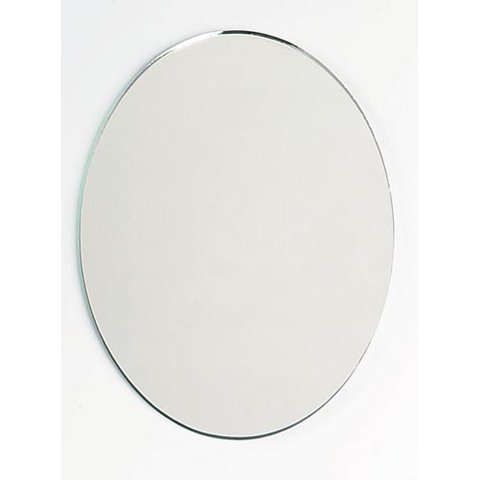 8 x 6 Inch Glass Craft Oval Mirrors Bulk 100 Pieces Mirror Mosaic Tiles by Art Cove