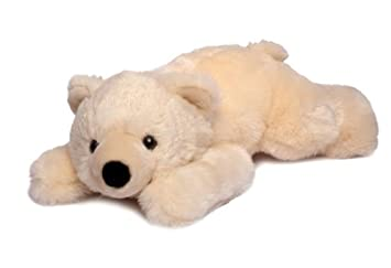 slushy polar bear lying down plush 19