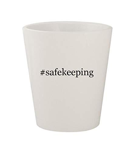 #safekeeping - Ceramic White Hashtag 1.5oz Shot Glass ()