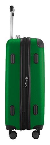 HAUPTSTADTKOFFER® Hartschalen Koffer SPREE 1203 · Handgepäck · MATT · TSA Zahlenschloss · GRÜN · + DESIGN KOFFERANHÄNGER