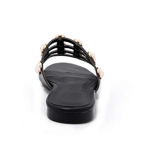 Noir Ouvert Bout Femme SLC04387 AdeeSu W6IqFC