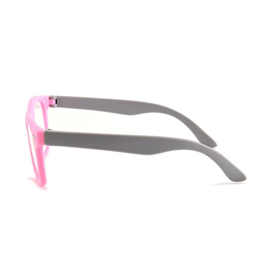 Gudzws Kids Anti Blue Light Glasses Rectangle Plastic Frame Protect Eyesight from Digital Display Computer TV Boys Girls Child Unisex Pink (Suitable for 5-12 Years Old) by Gudzws (Image #6)